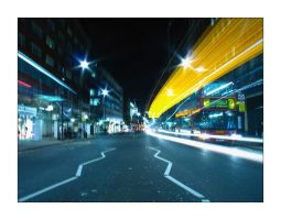 Ghosts of Oxford Street One by mizarek
