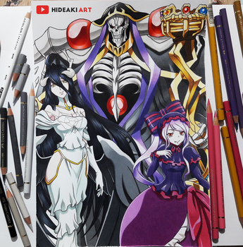 Ainz Ooal Gown, Albedo and Shalltear || Overlord by HideakiArtReal