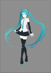 Hatsune Miku V4X Minimalist Vector by sucker068