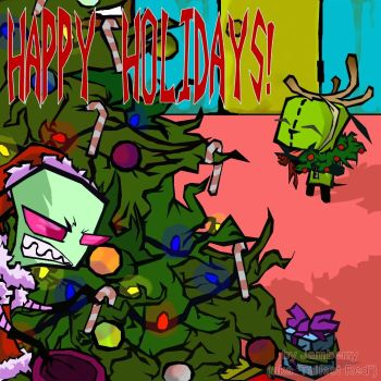 Zim as The Grinch by jamberry