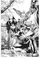 Batgirl Cover - pencils and inks by Ed-Benes-Studio