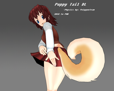 3DCG Bouncy Puppy Tail by MMDFakewings18