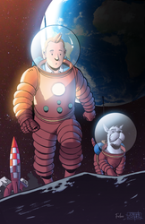 Explorers on the Moon by Furlani