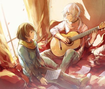 MAGE: guitar lesson (duet) by yukihomu