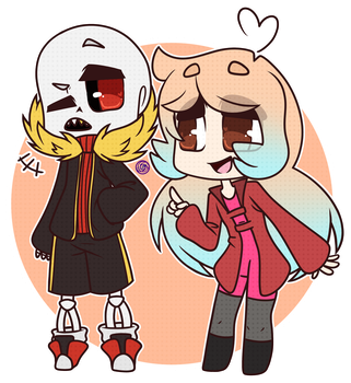 AT: Underfell Sans and BeeTale by Morgafur