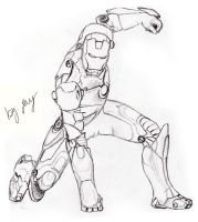 Iron Man uncoloured by BlaqkElectric