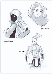 Character Studies - Shy Girl, Baisook and Eden by MichaelCrichlow