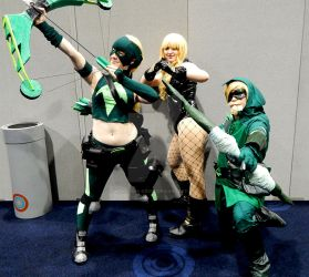Green Arrow and co. by wolf-in-a-dress