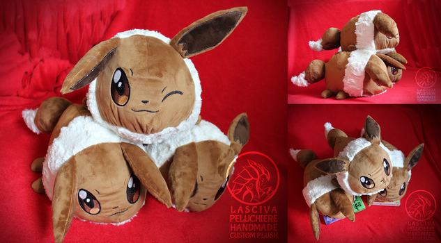 Eevee polochon custom plush by Peluchiere