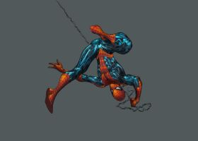 Guile's Spidey Paint Attempt by Creation-Matrix
