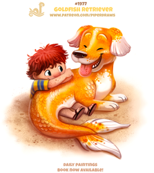 Daily Paint 1977# Goldfish Retriever by Cryptid-Creations