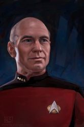 Captain Picard by RileyStark