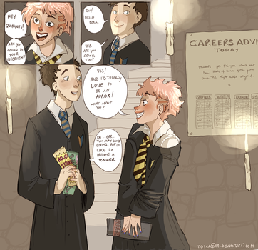 Tonks and Quirrell by ToscaSam