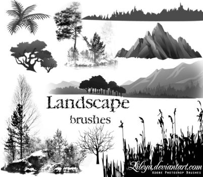 Landscape brushes by Lileya