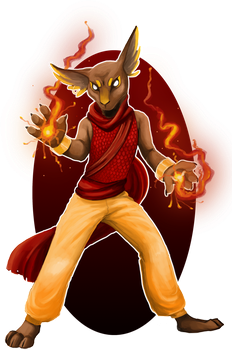 Commission: Fiery one by Brissinge