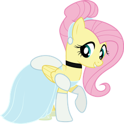 Fluttershy as Cinderella by CloudyGlow