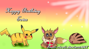 Pikachu, Eevee and Swinub