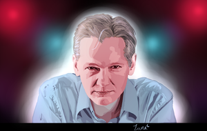 Julian Assange by SapphyreMoonlyte