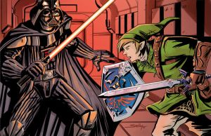 Darth Vader vs Link by SachaLefebvre