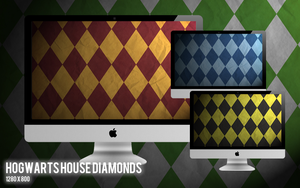 Hogwarts House Diamonds by nathanthenerd