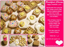 Happy Breakfast Charms by tedsie