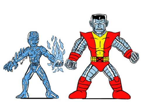 X-men Colossus Iceman Colored by Ruyc