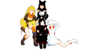 MMD RWBY: Team RWBY by Digi-TheSaiyan