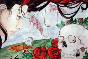 Flower and Skull Uno by Rachel-Perciphone