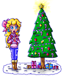 beautiful christmas tree by ninpeachlover