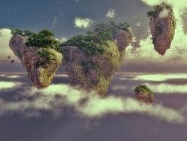 Floating Mountains by LVairon