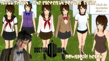 Matt Smith Doctor Who skin for Yandere Simulator! by YandereKashy