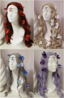 Crystal Circlets and Hair Flowers by Firefly-Path