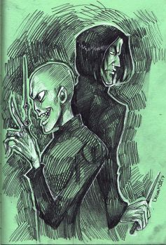 Snape and Lord Voldemort by Dasha-KO