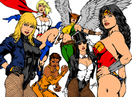DC Babes Ink and Color by XinMyForehead