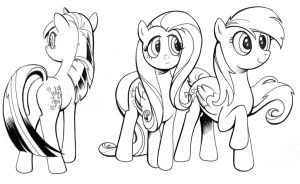 ink studies, My Little Pony by andypriceart