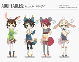 [ADOPTS][CLOSED]: KEMONOMIMI BOYS by Clouver