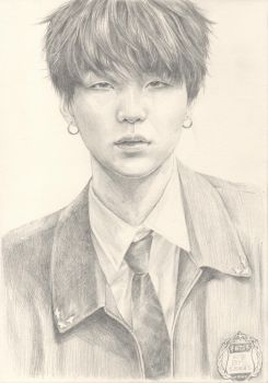 Suga - graphite sketch by mythliker