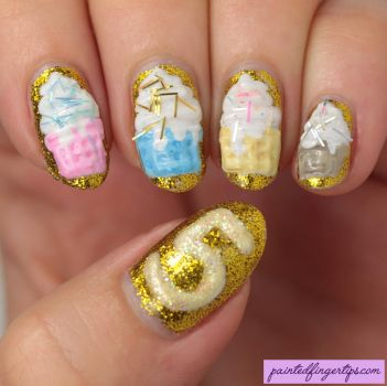 3d-cupcake-nails by Painted-Fingertips