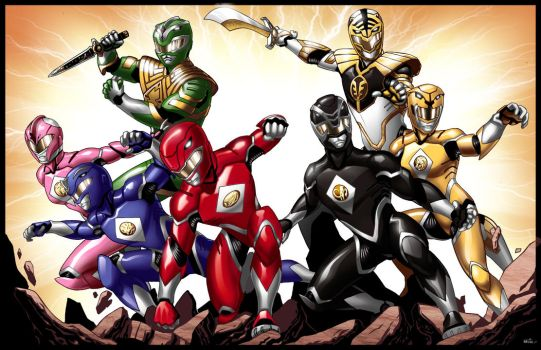 We Are the Power Rangers 2.0 by DavidFernandezArt