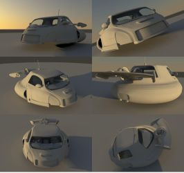 Flying Car: Ambent Renders by BenSkylinegodzilla