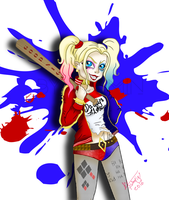 Harley Quinn - Suicide Squad +Fanart+ by ByYasmin