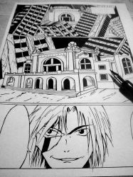 First page of my new manga Fallen from Grace by DRAWMOD