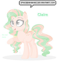 New OC: Claire (base edit) by SpaceBananaZ