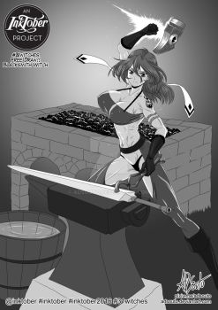 Blacksmith Witch by ADSouto