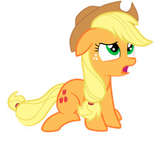 Applejack is in Disbelief by JunkiesNewb