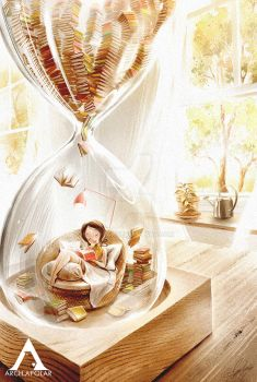 LOVE TO READ|Inside The Hourglass (PrintsForSale) by Apolar