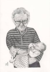 Grandma and baby by davidsteeleartworks