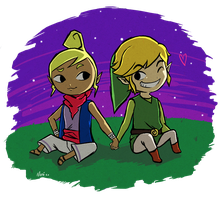 AT with Icy-Snowflakes - Tetra and Link by Namiiru