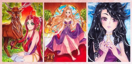 ACEO Cards 1 (6,4 cm x 8,9 cm) by Rubinery