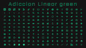 [IconPack] Adiccion linear Green by Agelyk